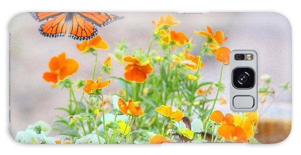 Monarch Butterfly In The Flowers Galaxy Case