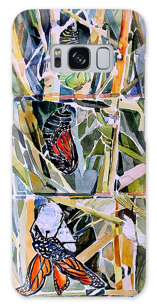Monarch Butterfly Life Cycle Galaxy Case