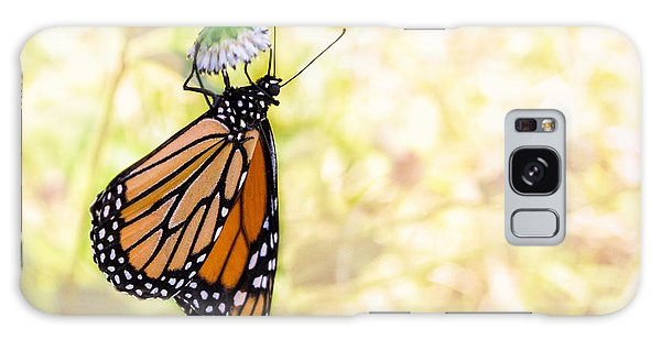 Monarch Butterfly Hanging On Wildflower Galaxy Case