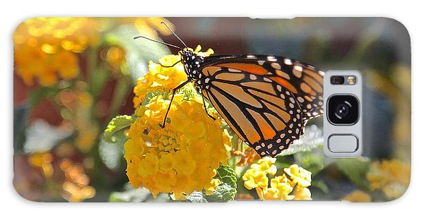 Monarch Butterfly On Lantana Galaxy Case