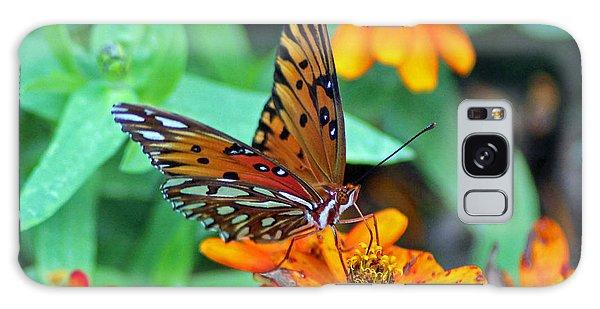 Monarch Butterfly Resting Galaxy Case