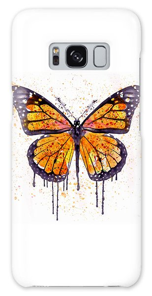 Insects Galaxy Case - Monarch Butterfly Watercolor by Marian Voicu