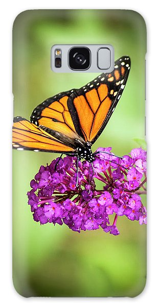 Galaxy Case featuring the photograph Monarch Moth On Buddleias by Carolyn Marshall