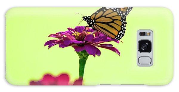 Monarch On A Zinnia Galaxy Case