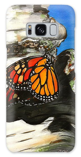 Monarch On Birch Galaxy Case