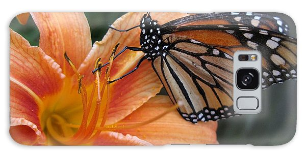 Monarch On Lily Galaxy Case by Carol Sweetwood