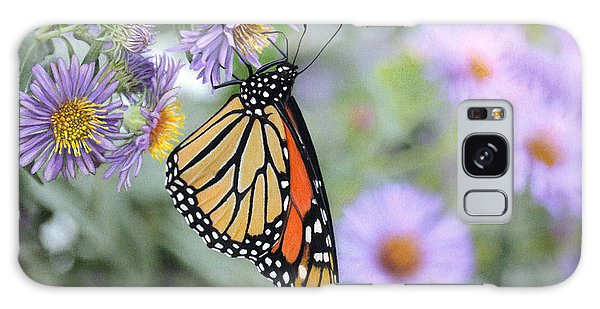 Monarch On New England Aster Galaxy Case