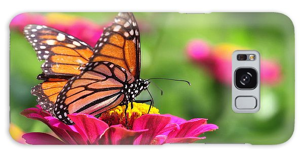 Monarch Visiting Zinnia Galaxy Case