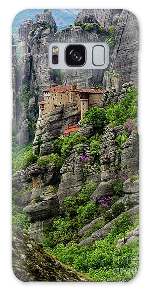 Monastery Of Saint Nicholas Of Anapafsas, Meteora, Greece Galaxy Case
