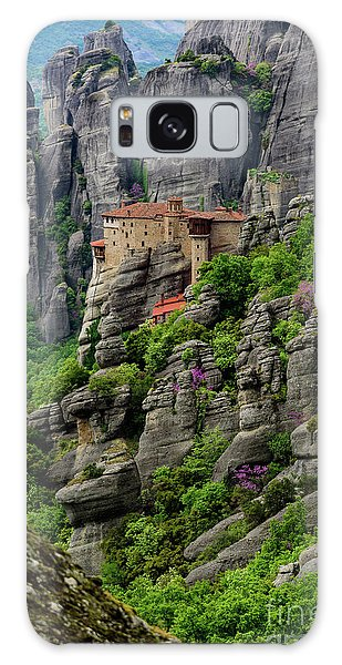 Monastery Of Saint Nicholas Of Anapafsas, Meteora, Greece Galaxy Case