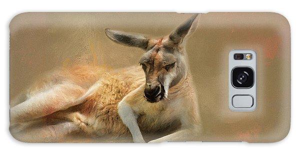 Monday Morning Drowsies Kangaroo Art Galaxy Case