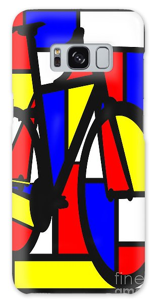 Mondrianesque Road Bike Galaxy Case