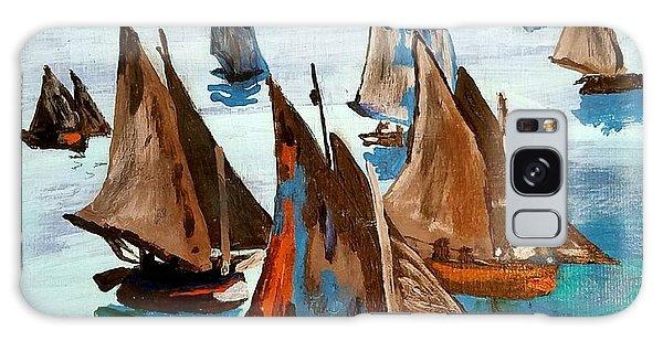 Monet Fishing Boats Calm Seas Galaxy Case