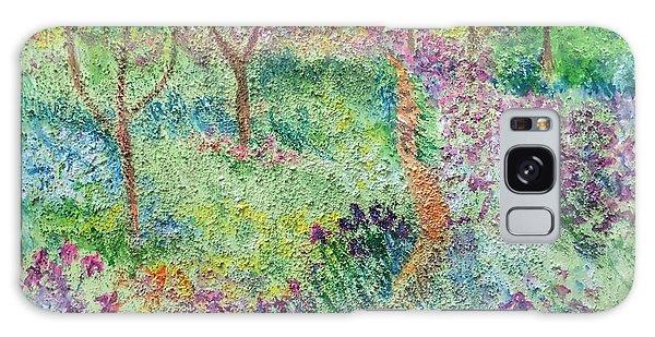 Monet Inspired Iris Garden Galaxy Case