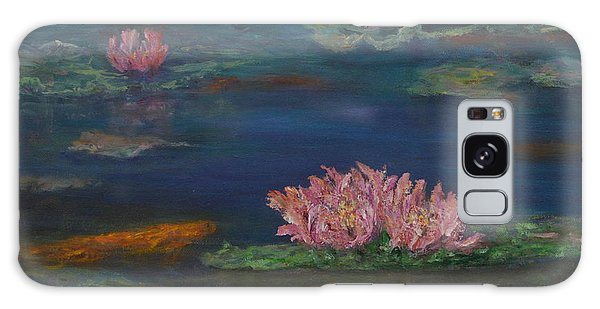 Monet Inspired Water Lilies With Gold Fish In A Pond Galaxy Case
