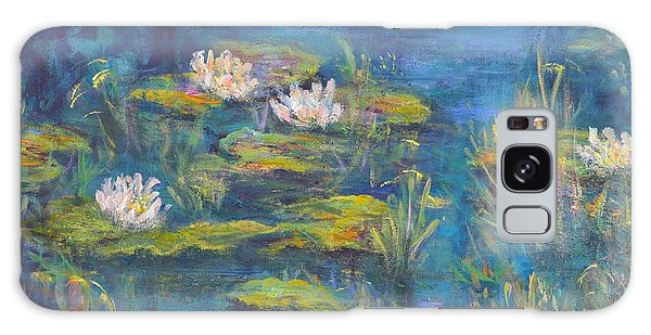 Monet Style Water Lily Marsh Wetland Landscape Painting Galaxy Case