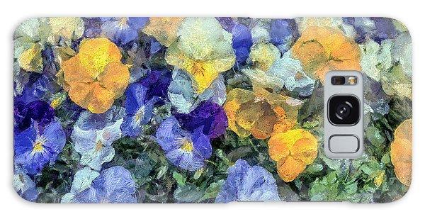 Monet's Pansies Galaxy Case