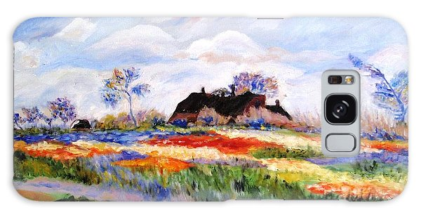 Monet's Tulips Galaxy Case