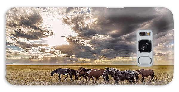 Galaxy Case featuring the photograph Mongolian Horses by Hitendra SINKAR