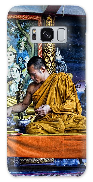 Monk At Big Buddha  Galaxy Case