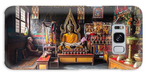 Kathmandu Monk Galaxy Case by Marty Garland