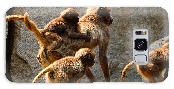 Animals Galaxy Case - Monkey Family by Dennis Maier