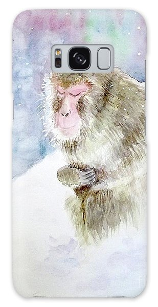 Monkey In Meditation Galaxy Case by Yoshiko Mishina