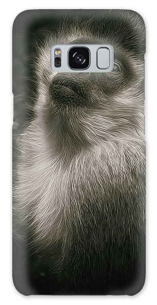 Monkey Portrait Galaxy Case