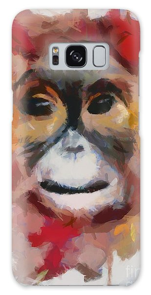 Monkey Splat Galaxy Case
