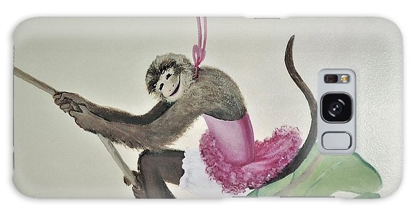 Monkey Swinging In The Trees Galaxy Case