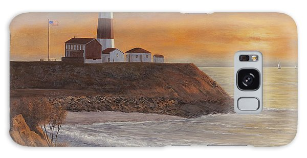 Monntauk Lighthouse Sunset Galaxy Case