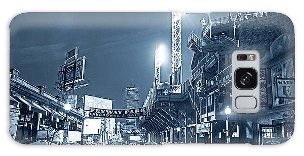 Monochrome Blue Nights Boston Ma Lansdowne St Fenway Park Game Night Galaxy Case