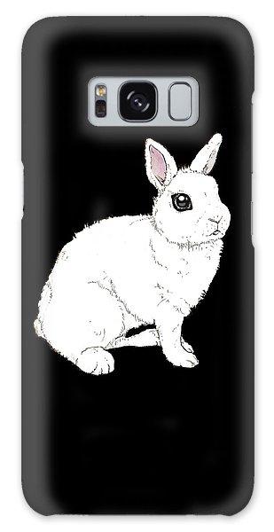 Monochrome Rabbit Galaxy Case