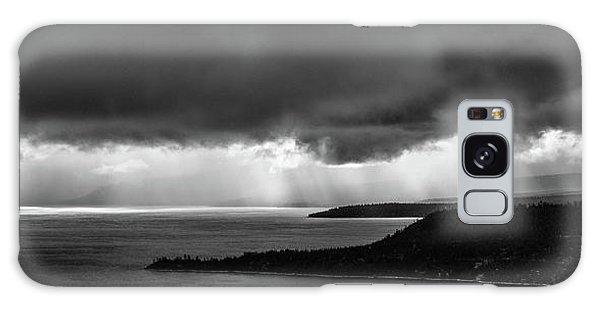 Monochrome Storm Panorama Galaxy Case