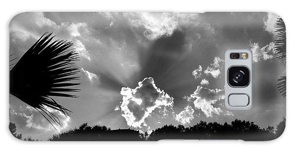 Monochrome Sunburst Galaxy Case by Eric Liller