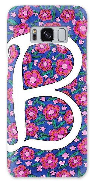 Monogram B Galaxy Case