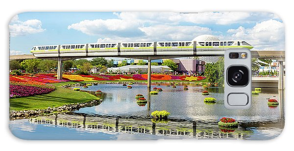 Monorail Cruise Over The Flower Garden. Galaxy Case