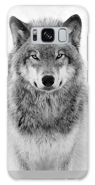 Monotone Timber Wolf  Galaxy Case
