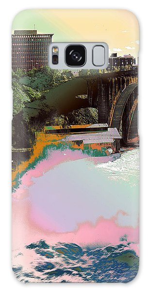 Galaxy Case featuring the photograph Grunge Monroe Street Plant  by Robert G Kernodle