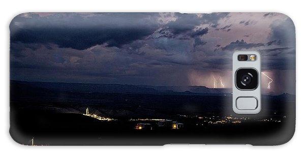 Monsoon Lightning Over Sedona From Jerome Az Galaxy Case