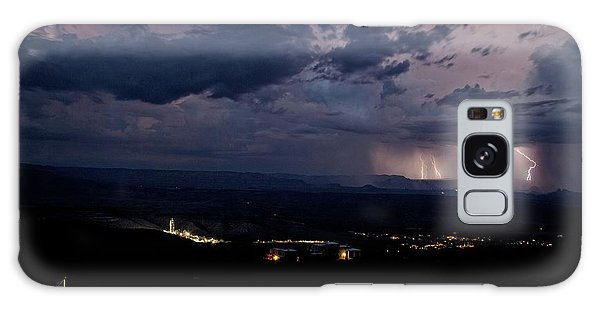 Monsoon Lightning Over Sedona From Jerome Az Galaxy Case