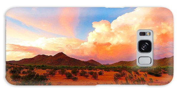 Monsoon Storm Sunset Galaxy Case