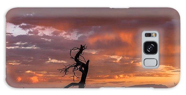 Monsoon Sunset Galaxy Case