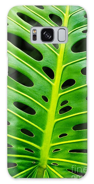 Monstera Leaf Galaxy Case by Carlos Caetano