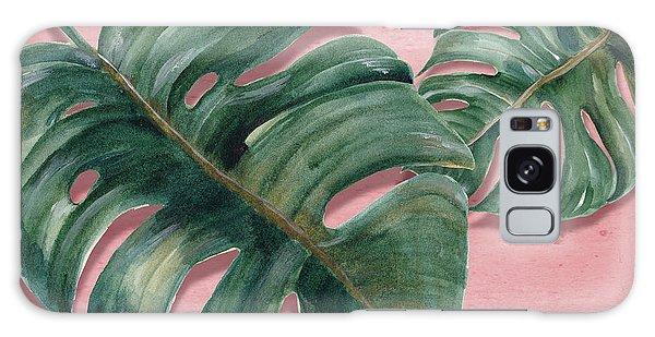 Leaf Galaxy Case - Monstera Leaf  by Mark Ashkenazi