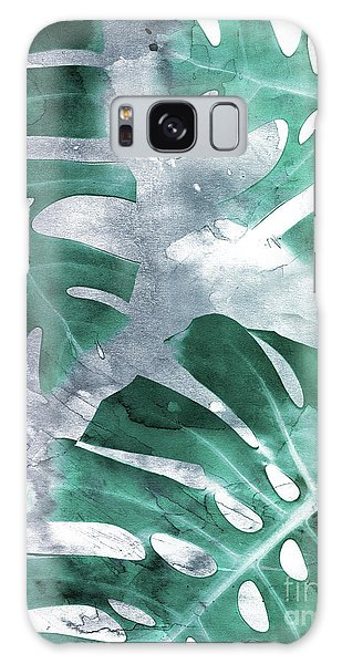 Monstera Theme 1 Galaxy Case by Emanuela Carratoni