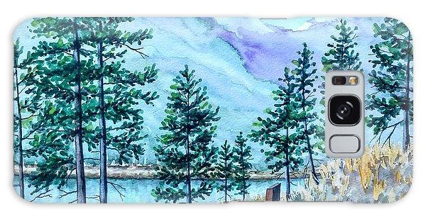 Montana Lake Como With Bench Galaxy Case