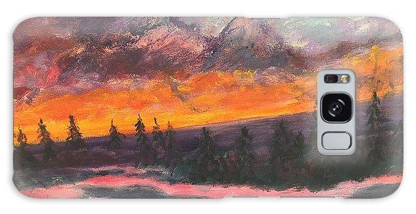 Montana Sunset Galaxy Case