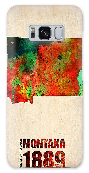 City Map Galaxy Case - Montana Watercolor Map by Naxart Studio