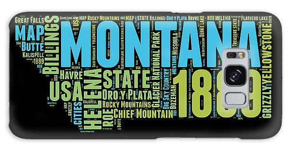 Montana Galaxy Case - Montana Word Cloud 1 by Naxart Studio
